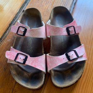 Birkenstock • Papillo Pink Slide Sandals